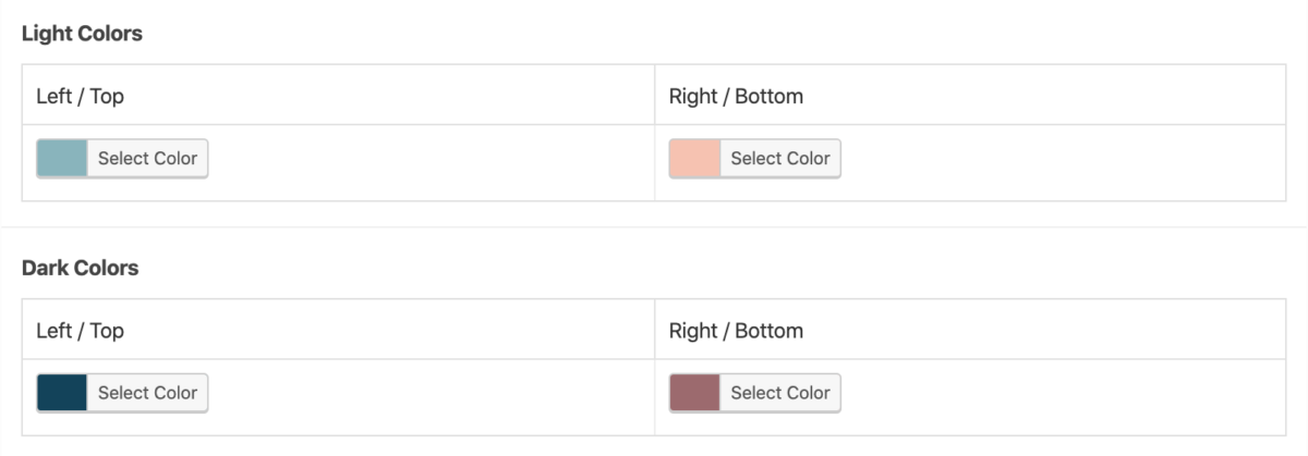 Advanced Custom Fields jQuery Color Selectors